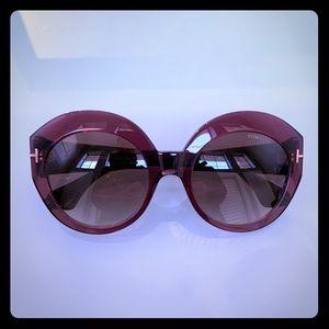 Tom Ford Rachel Brown Round Sunglasses FT0533
